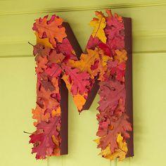 Leafy Monogrammed Wreath