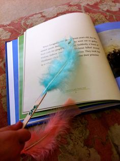Fancy feathers to find sight words while reading.