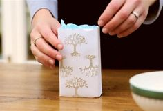 make a gift bag out of an envelope