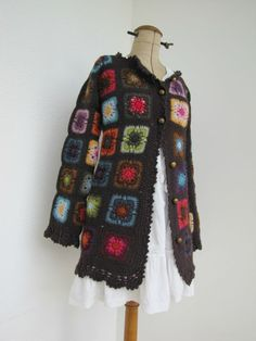 voorbeeld crochet fashion, granni jacket, crochet passion, crochet long, crochet jacket, crochet blous, captain crochet, granny squares, granni squar
