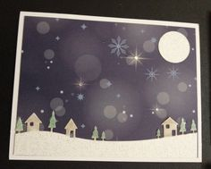 Christmas card using country landscape die