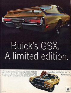 1970 Buick GSX Advertising Hot Rod Magazine April1970