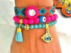 SALEGYPSY  HEART  bracelets bohemian bracelets ethnic by Nezihe1, $29.99