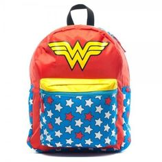 Wonder Woman Red Backpack With Cape on www.amightygirl.com