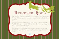 Get this FREE printable Christmas tag download. Cute idea for the kids on Christmas Eve!