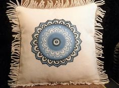 Blue Moroccan tile graphic decorative PILLOW by LucysLushLife, $25.00