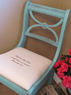 shabby chic chair with bible verse Proverbs 3:5