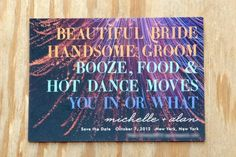 12 unique wedding invites that caught our eye