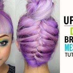 How To   Upside Down Braided Messy Bun