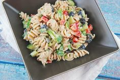 Creamy Summer Pasta Salad Recipe - 6 Points +