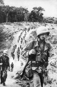 US Army troops on Mt Austen. .   Battle Photos: The Battle of Guadalcanal.