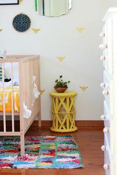White and yellow kid room