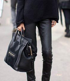 Black Celine bag: #style #black