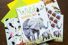 Wild Writing Set for Children by KateFete on Etsy, £15.00