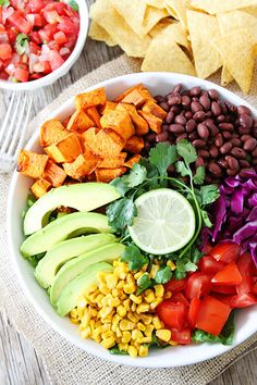 Sweet Potato and Black Bean Mexican Salad Recipe on twopeasandtheirpod.com. Love this fresh and simple salad! #glutenfree #vegan #salad
