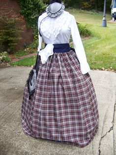 ColonialCivil WarVictoriancostume Long SKIRT and by civilwarlady, $54.99