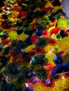 Chihuly Glass ceiling at the Bellagio in Las Vegas  --- the first time I saw Chihuly was right here at the Bellagio!