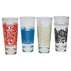 QUENCH 4 Piece Veneto Drinking Glass Set