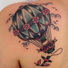 flowery hot air balloon