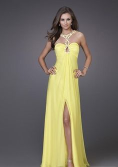 Sexy Beaded Halter Straps Sleeveless Floor-length Empire A-line New Prom Dresses