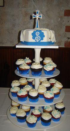 1st communion cup cakes