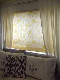 Brr!! It's cold out--insulated window blind tutorial