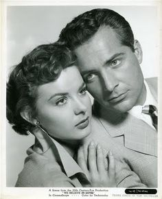 Jean Peters with Rossano Brazzi in Three Coins in the Fountain (1954)