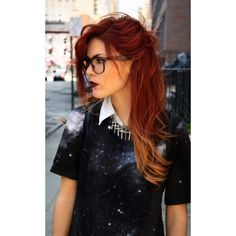 Red Ombre Hair, this would look good on lindsey