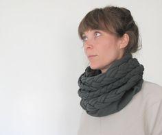 gorgeous :: warm braided loop fleece in grey by StAnderswo on Etsy