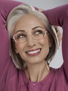Color Eyeglass Frames Gray Hair : Ageless Queens & Their Grey-cious Crowns of Hair on ...