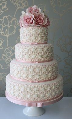 Pink Wedding Cake. Beautiful ~
