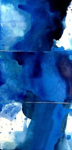 colour, watercolor art, cobalt blue art, colors, blue skies, paint, design, blues, blue indigo