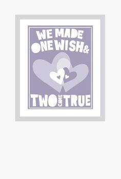TWINS Baby Nursery Quotes about Twins Poster Fine Art Print. $18.00, via Etsy.