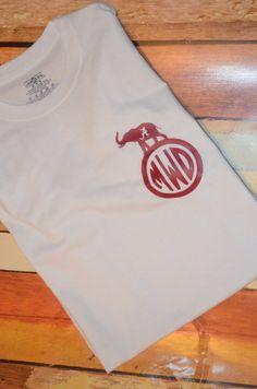 Monogrammed Alabama shirt by TheMonogramOwltlet on Etsy, $20.00