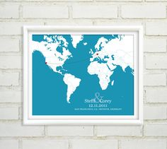 Long Distance Relationship  Personalized by NearAndDearDesigns, $47.00