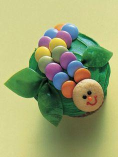 Caterpillar cupcake how-to