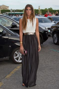 Bianca Brandolini. Great outfit. Great hair.