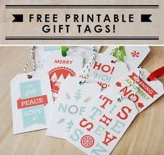 Free holiday gift tag printables!