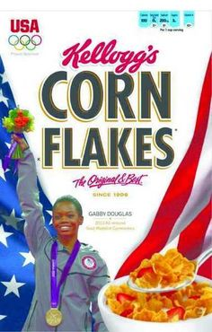 This Gabby Douglass Corn Flakes box will hit grocery stores soon
