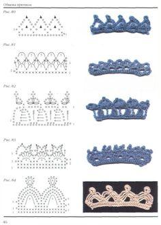 charts, russian crochet chart, craft, crochetedg, crochet edgings, crochet trim pattern, crochet edges, crochet patterns, edg pattern