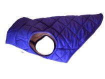 American Digs Quilted Puffer Dog Coat Large Purple, Fits Dogs 26-38 lbs