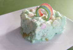 St. Patricks Day Dessert | Green Dream Jello Salad Recipe #StPatricksDay