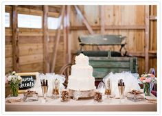 rustic sweets table