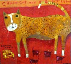 Melinda K. Hall:Crude Cat and a 4 Kitty Litter
