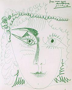 Pablo Picasso - Visage feminin