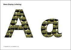 printabl letter, letter sb9466, bee display, display letter
