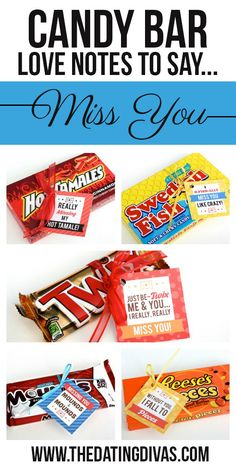 Free printable candy bar gift tags! Perfect for a long distance care package!
