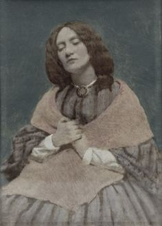 One of only two known photographs of Elizabeth Siddal, artist, poet,model, muse, and wife of Dante Gabriel Rossetti.