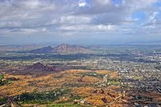 Phoenix and Scottsdale Arizona with Camelback Mountain in the background