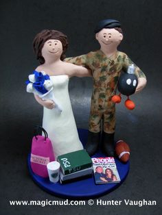 Marine in Camouflage Wedding Cake Topper http://www.magicmud.com    1 800 231 9814  magicmud@magicmud.com $235  https://twitter.com/caketoppers         https://www.facebook.com/PersonalizedWeddingCakeToppers   #wedding #cake #toppers #custom #personalized #Groom #bride #anniversary #birthday#weddingcaketoppers#cake-toppers#figurine#gift#wedding-cake-toppers #military#marine#soldier#army#navy#airForce#USA#m16#camo#dressBlues#uniform#paratrooper
